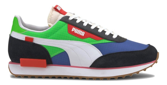Zapatillas Puma Future Rider Play On Ver/azu De Hombre