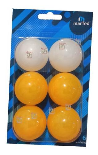 Imagen 1 de 3 de Pelotitas Ping Pong Marfed X6