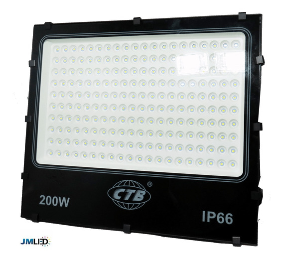 Refletor Led Ctb 200w Holofote Branco Frio Ip66 Bivolt