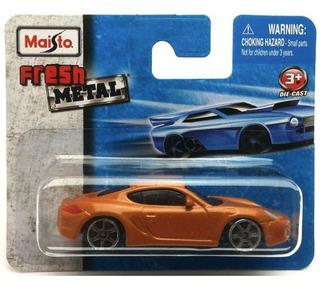 Maisto 1:64 Fresh Metal - Porsche Cayman S - Dourado