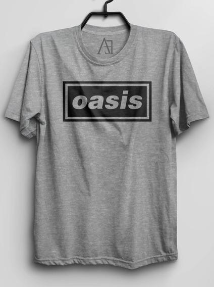 Camiseta Da Banda Oasis Logo Camisa Rock