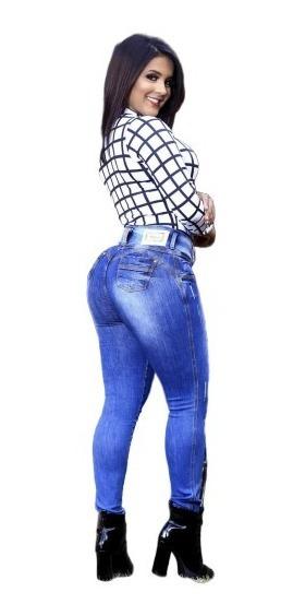Calça Jeans Feminina Oxtreet Levanta Bumbum Estilo Pitbull
