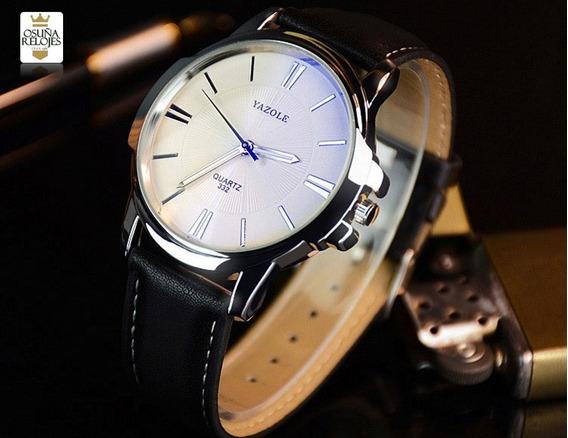 Relógio Masculino Yazole Confortável Com Caixinha