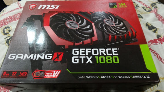 Tarjeta De Video Nvidia Msi Gtx 1080 Gaming X 8gb Gddr5 Dx12