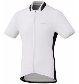 Camisa Shimano De Ciclismo Branca/preta Tamanho M