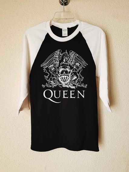 Queen Logo Águila Polera 3/4 Rock Abominatron