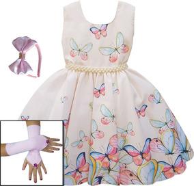 Vestido Infantil Festa Floral 4 Ao 16 Anos Mega Promoção