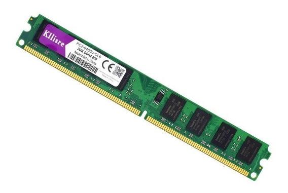 Memória Kllisre Ddr2 2gb 800mhz Pc Intel/amd (frete 20,00)