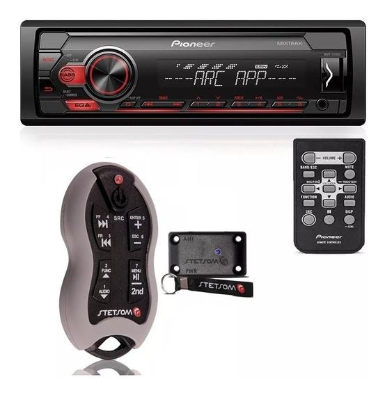 Controle Longa Distância + Mp3 Automotivo Pioneer Usb Rádio