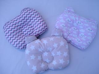 3X Soporte almohada de cabeza plana para prevenir de bebe recien nacido de al 2O
