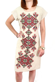 Lindo Vestido De Algodão Bordado (2856)