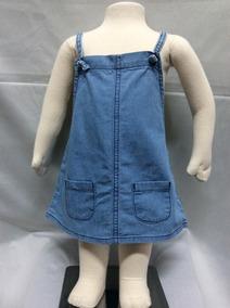 Vestido Jeans Bebê Hering - Medidas Abaixo - Cod 2462
