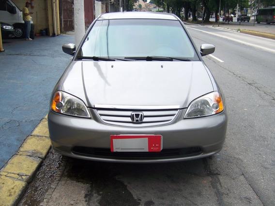 Honda Civic 1.7 Lx 16v. Automatico 2003 Cinza Gasol. Compleo