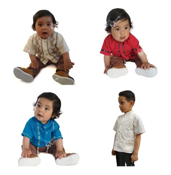Camisa/ Guayabera Artesanal Niños/ Bebes