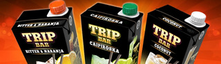 3 Cocktail Trip Bar. Bitter & Naranja, Mojito, Caipiroska