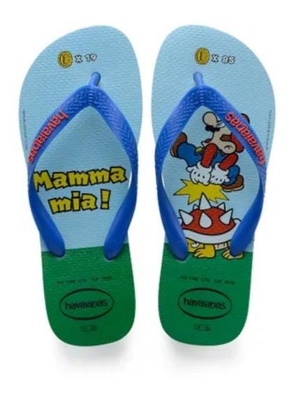 Sandália Havaianas Super Mario Bros Original-presente