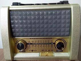 Radio Antigo Caixa Inova Rad279z Vintage Usb Sd Recarregável