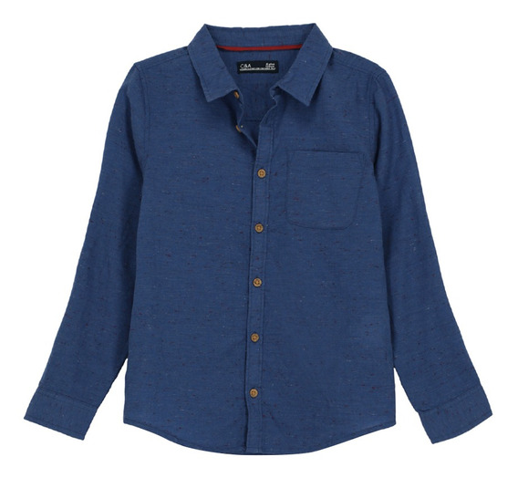 Camisa Manga Larga Cuello Americano De Niños C&a 1048005