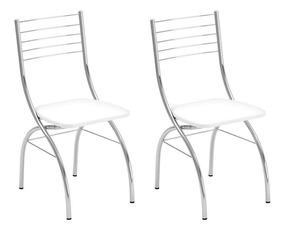 Conjunto Com 2 Cadeiras Fiumicino Branco