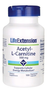 Acetyl-l-carnitine 500mg 100 Capsules - Life Extension