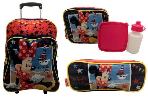 Kit Minnie Disney Sestini : Mochilete E Lancheira E Estojo