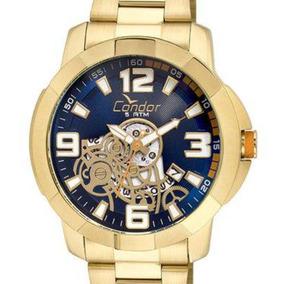 Relógio Condor Masculino Co2415bi/4a Original Dourado + Nf