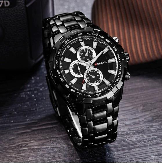 Relógio Masculino Original Curren Aço Inoxidavél