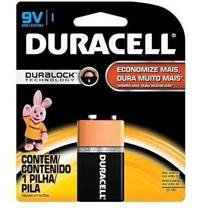 Kit 04 Pacotes De Bateria 9v Duracell C/ Frete Taytec
