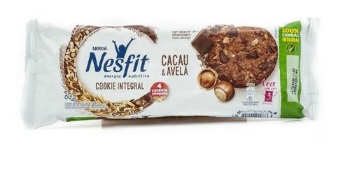 Biscoito Cookies Integral Nesfit Cacau E Avelã 60gr Nestle