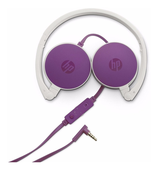 Fone De Ouvido Headset Hp H2800 * F6j06aa * Branco C/ Rosa *