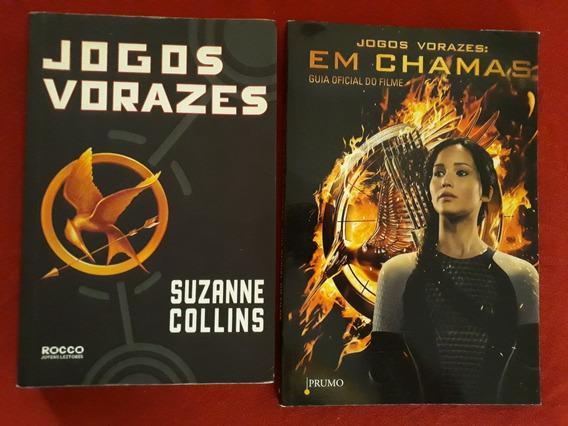 Kit 2 Livros: Jogos Vorazes & Guia Oficial Do Filme