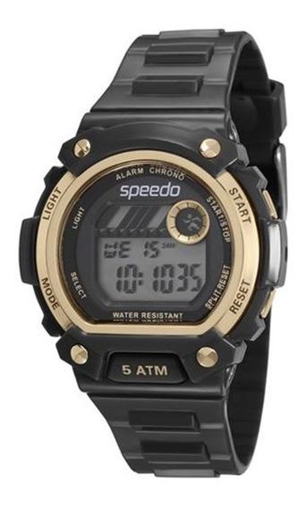 Relógio Speedo Feminino Digital Preto E Dourado 81133l0evnp1