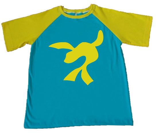 Camiseta Raglan Foca Luccas Neto Azul Claro