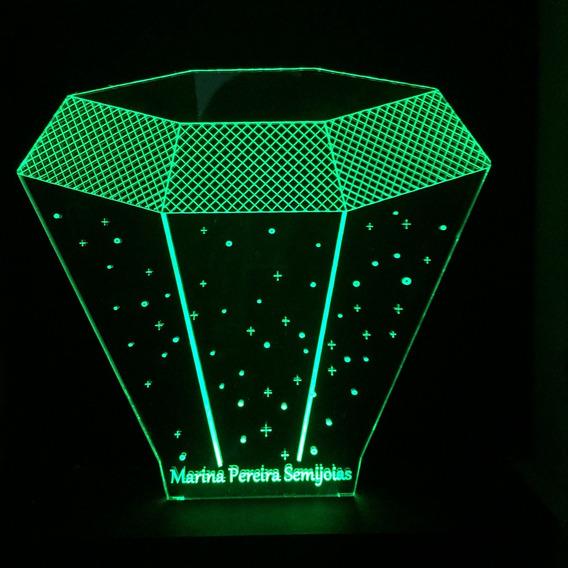 Luminaria Acrilico Led 3d, 20 Un Para Escolher Modelos