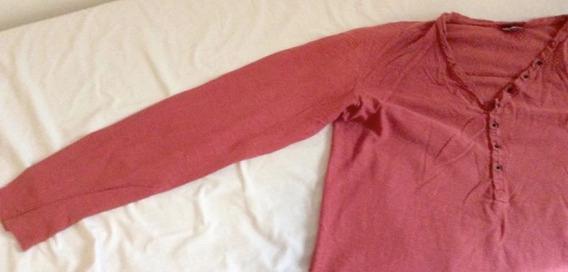 Camiseta De Manga Longa Triton Vermelho Tijolo