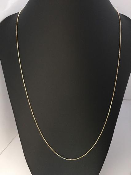 Corrente Veneziana Fina Diamantada 60cm Folheada Ouro 3047