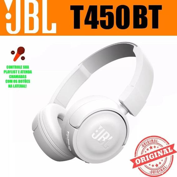 Fone Sem Fio Headphone Bluetooth Jbl T450bt Branco Original