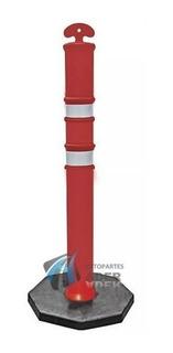 Cono Columna Vial Reflectivo Delineador 110cm 7kg