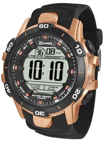 Relógio X-games Masculino Preto Com Bronze Xmppd413 Bxpx