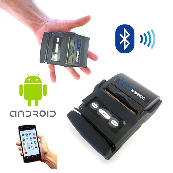 Kit C/ 5 Mini Impressora Térmica Portátil Bluetooth Android