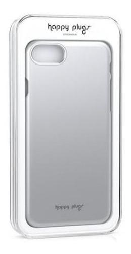 Carcasa Funda Happy Plugs Deluxe Slim iPhone 7 Y 8 Silver