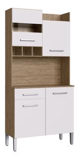 Mueble De Cocina Kit Completo 4 Puertas 1 Cajon Amoblamiento