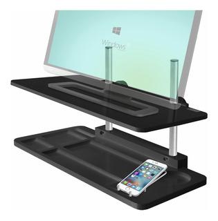 Mesa Elevafácil Ajustable Para Pc All-in-one/monitor, Negro