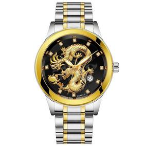 Relógio Masculino Golden Dragon Prata