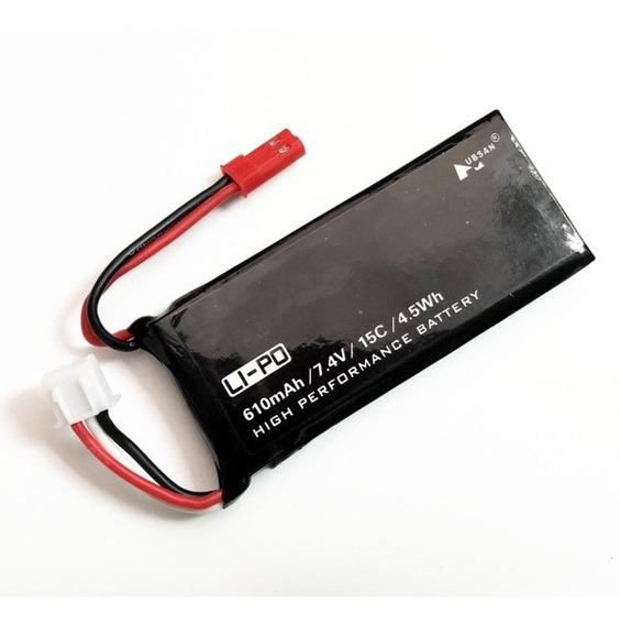 3 Baterias Hubsan H502s 7,4v 610mah Pronta Entrega