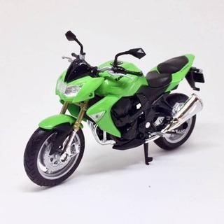 Miniatura Moto Kawasaki Z 1000 2007 Verde 1:18 Welly 060174