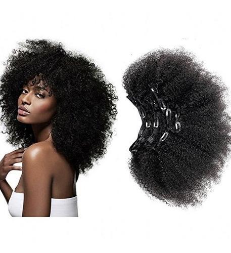 Afro Kinky Clip Rizado En Humanos Remy Extensiones De Pelo