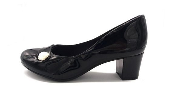 Zapato Dama Vestir Beira Clásico Perla Taco Cuadrado 4777352