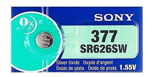 Sony 377 Sr626sw 155 V De Oxido De Plata 0% Hg Sin Mercurio