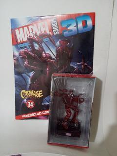 Carnage Marvel 3d Salvat N° 34 Con Revista